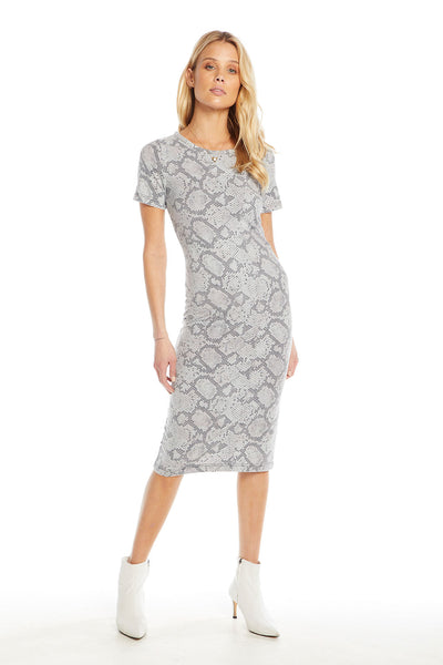 Quadrablend Short Sleeve Bodycon Midi Dress WOMENS chaserbrand4.myshopify.com