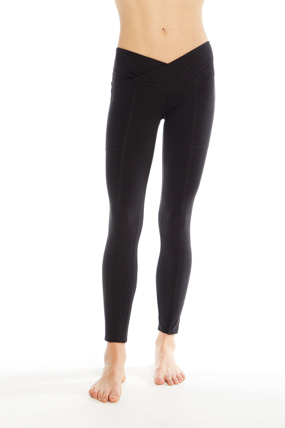 Quadrablend Sexy Overlap Waistband Legging with Pocket WOMENS chaserbrand4.myshopify.com