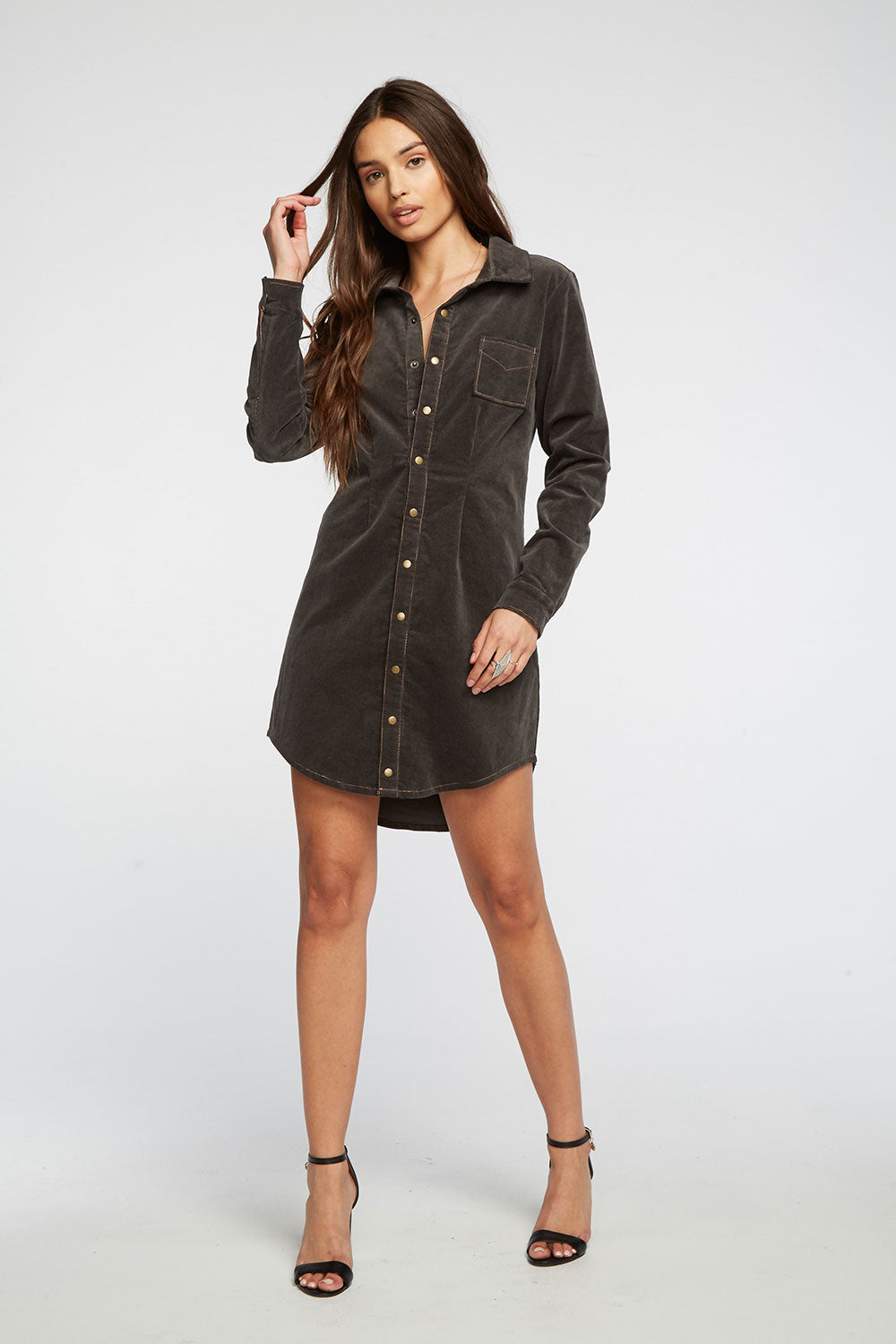 Corduroy Shirtdress, WOMENS, chaserbrand.com,chaser clothing,chaser apparel,chaser los angeles