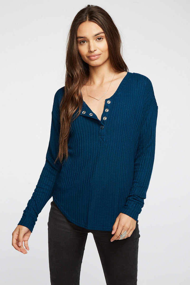 Thermal Shirttail Henley WOMENS chaserbrand4.myshopify.com