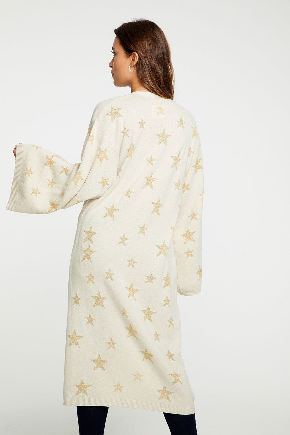 Star Intarsia Duster WOMENS chaserbrand4.myshopify.com