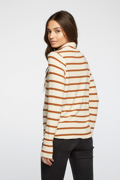 Cozy Knit Cropped Thumbhole Hi Lo Turtleneck WOMENS chaserbrand4.myshopify.com