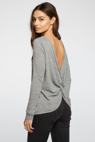 Triblend Twist Back Pullover Tee WOMENS chaserbrand4.myshopify.com