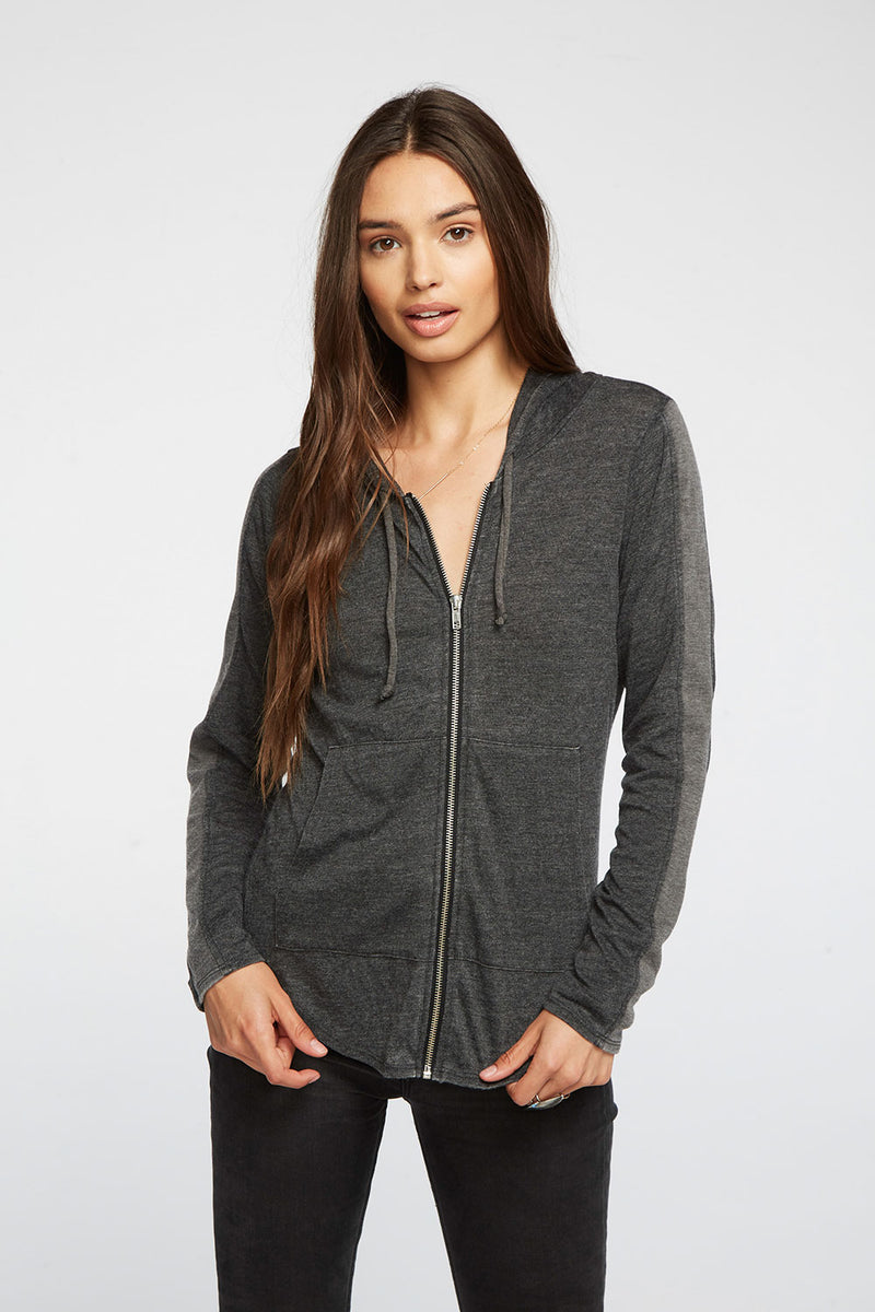 Blocked Jersey Zip Up Track Hoodie WOMENS chaserbrand4.myshopify.com