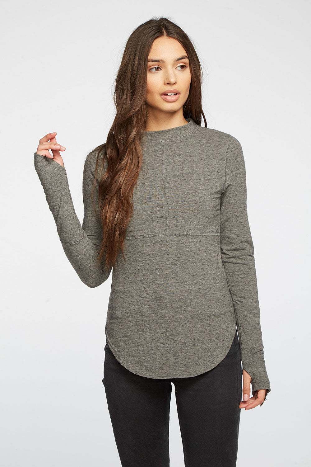 Quadrablend Thumbhole Cuff Seamed Warm Up Top WOMENS chaserbrand4.myshopify.com