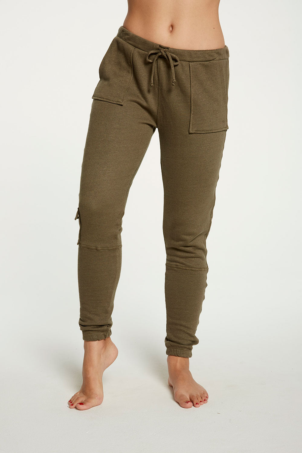 Linen French Terry Cargo Lounge Pant