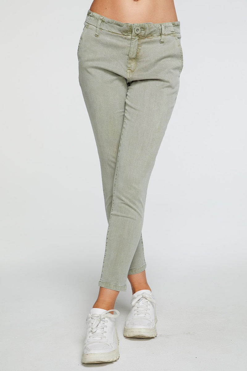 Stretch Twill Relaxed Trouser in Prairie Green