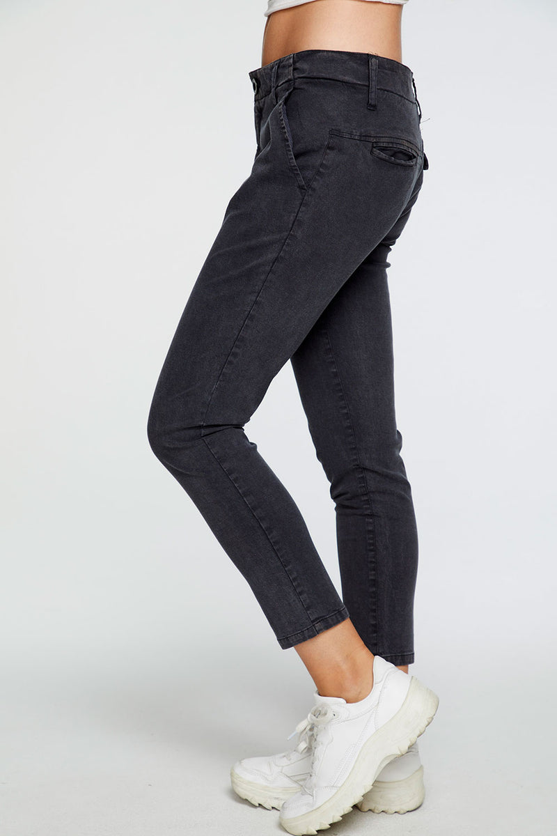 Stretch Twill Relaxed Trouser in Vintage Black