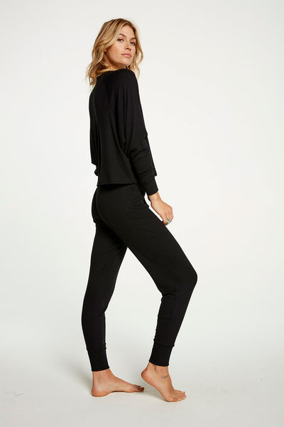 Cozy Rib Oversized Cropped Drop Shoulder Raglan Henley WOMENS chaserbrand4.myshopify.com