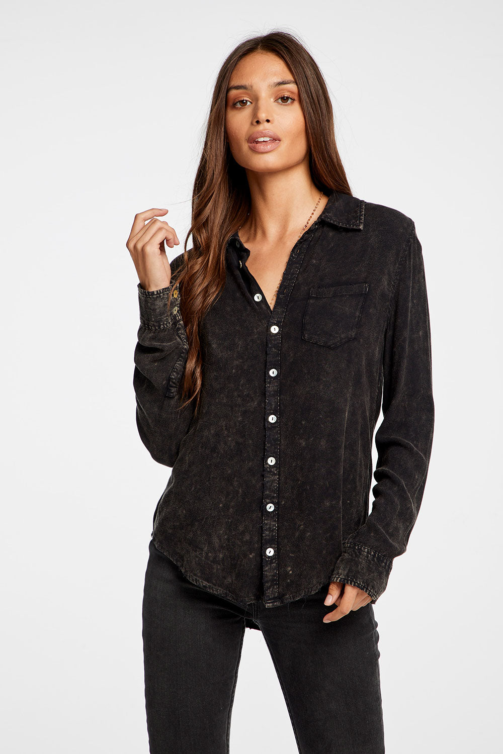 Heirloom Wovens Long Sleeve Pocket Button Down Shirt WOMENS chaserbrand4.myshopify.com