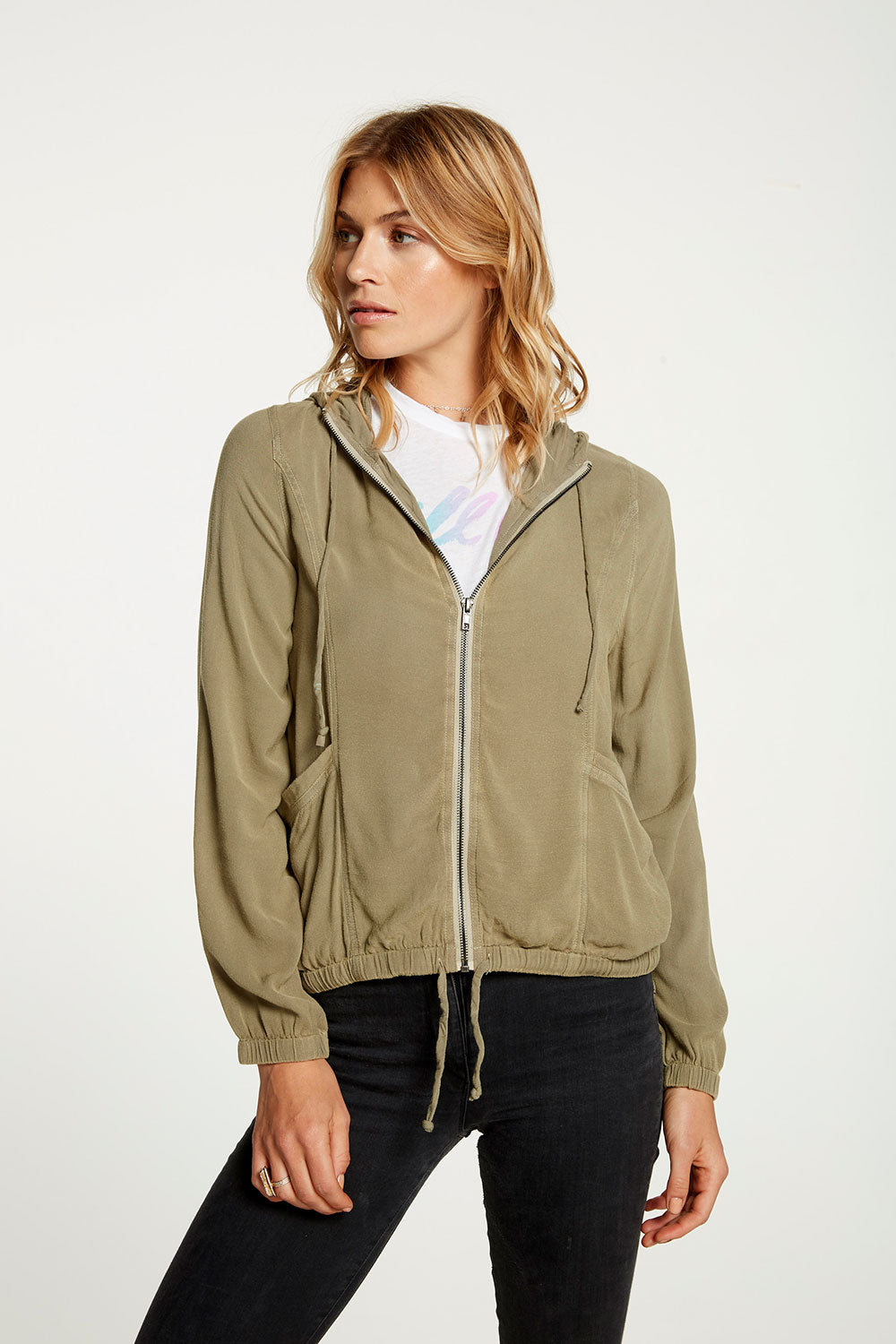 Heirloom Wovens Long Sleeve Hoodie Windbreaker WOMENS chaserbrand4.myshopify.com