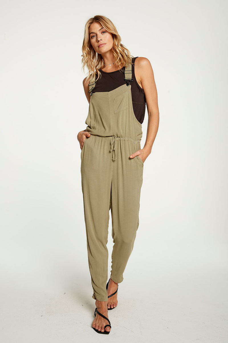 Heirloom Wovens Tie Waist Easy Overalls