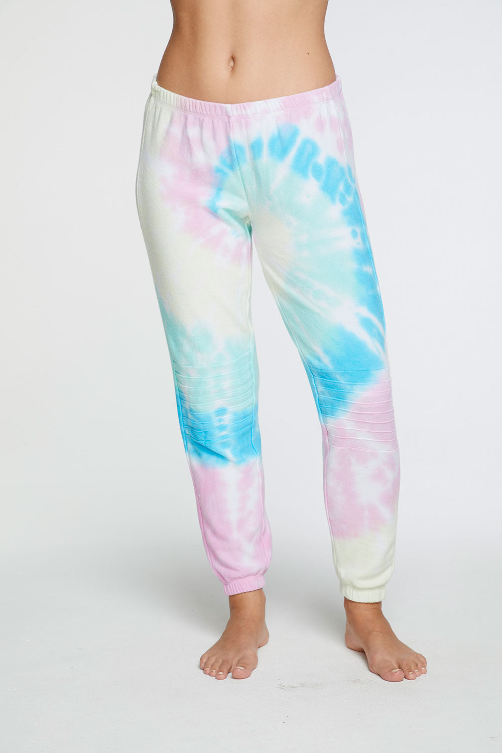Cozy Knit Slouchy Moto Jogger in Tie Dye WOMENS chaserbrand4.myshopify.com