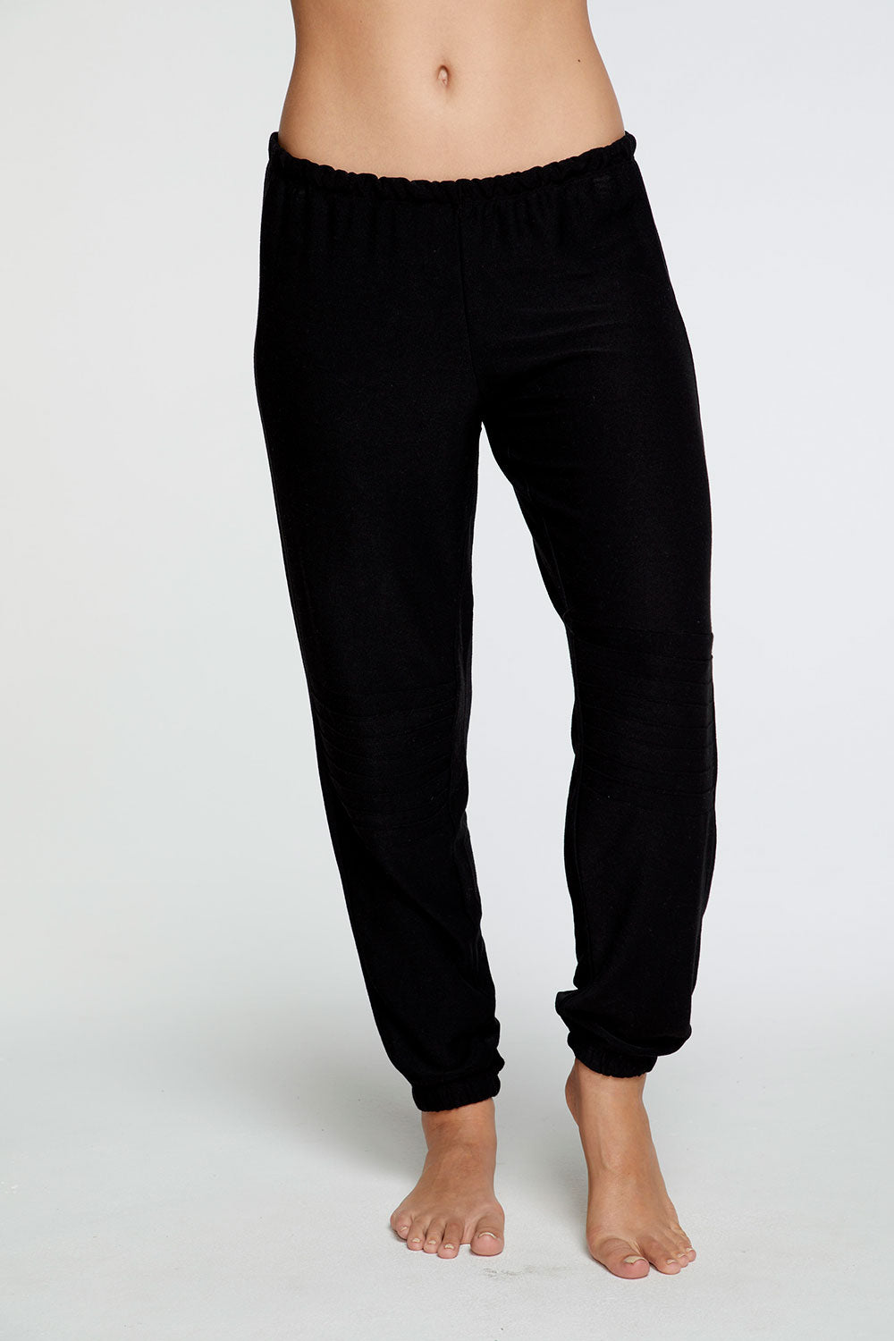 Cozy Knit Slouchy Moto Jogger in True Black WOMENS chaserbrand4.myshopify.com