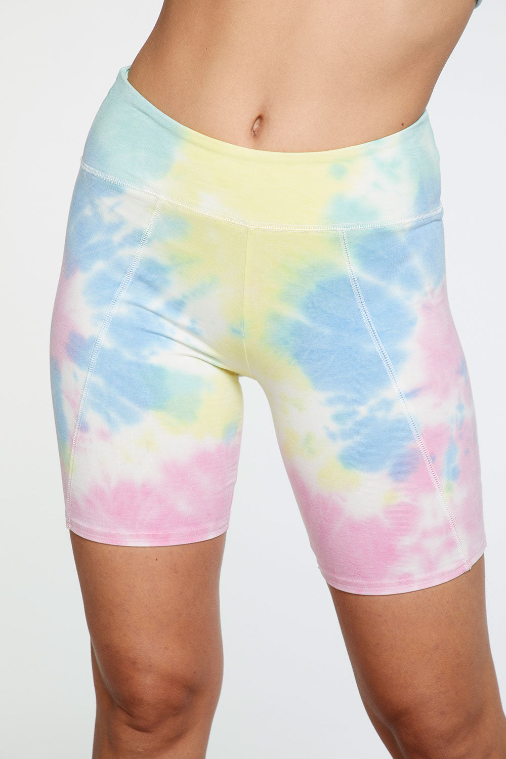 Quadrablend Seamed Bike Shorts in Tie Dye WOMENS chaserbrand4.myshopify.com