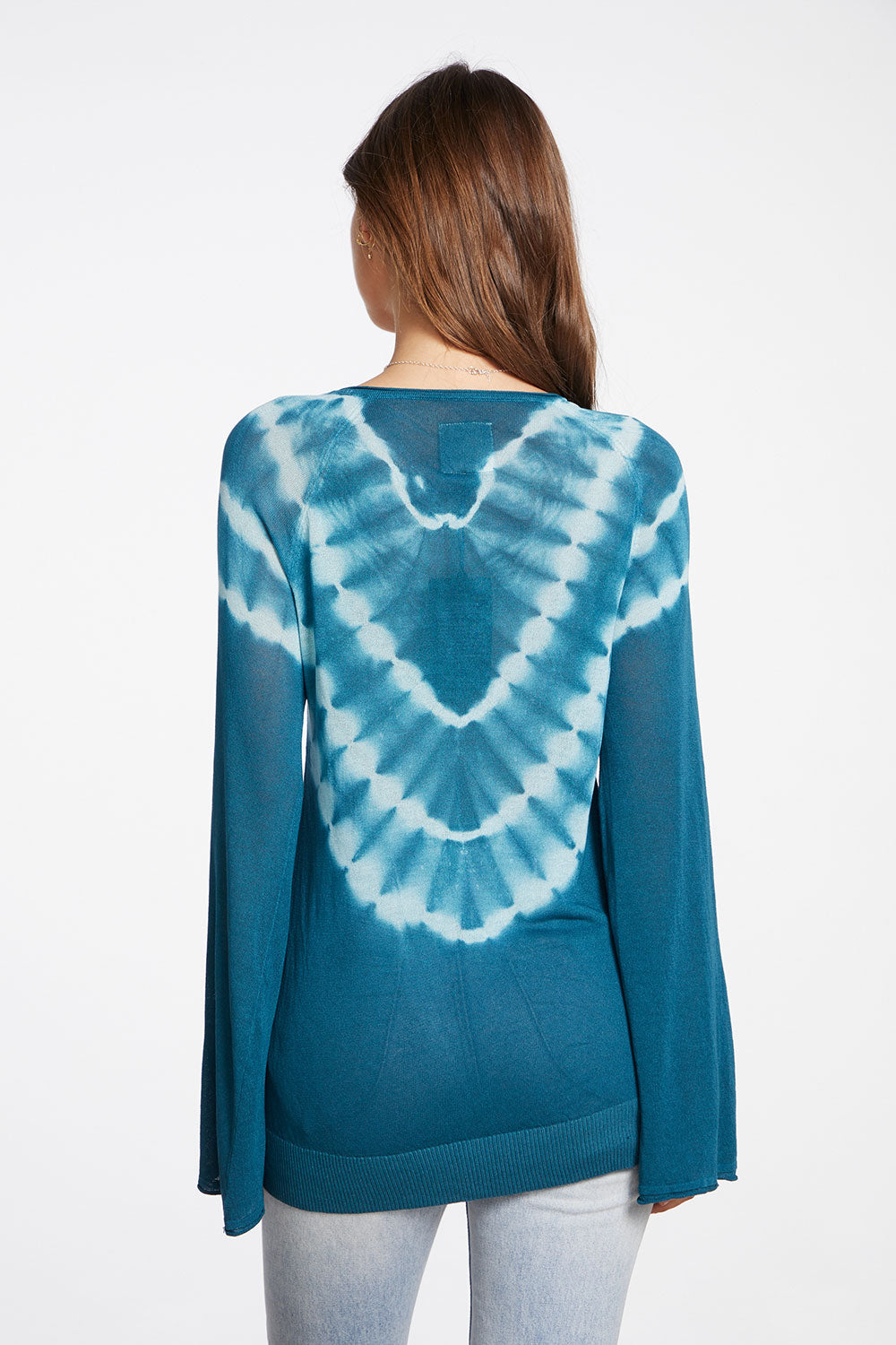 Tie Dye Sweaters Long Sleeve Raglan Kanga Pocket Pullover in Tie Dye