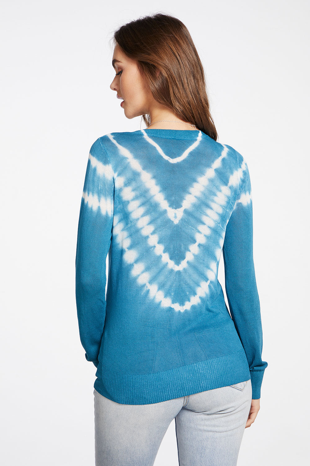 Tie Dye Sweaters Long Sleeve Crew Neck Pullover in Tie Dye