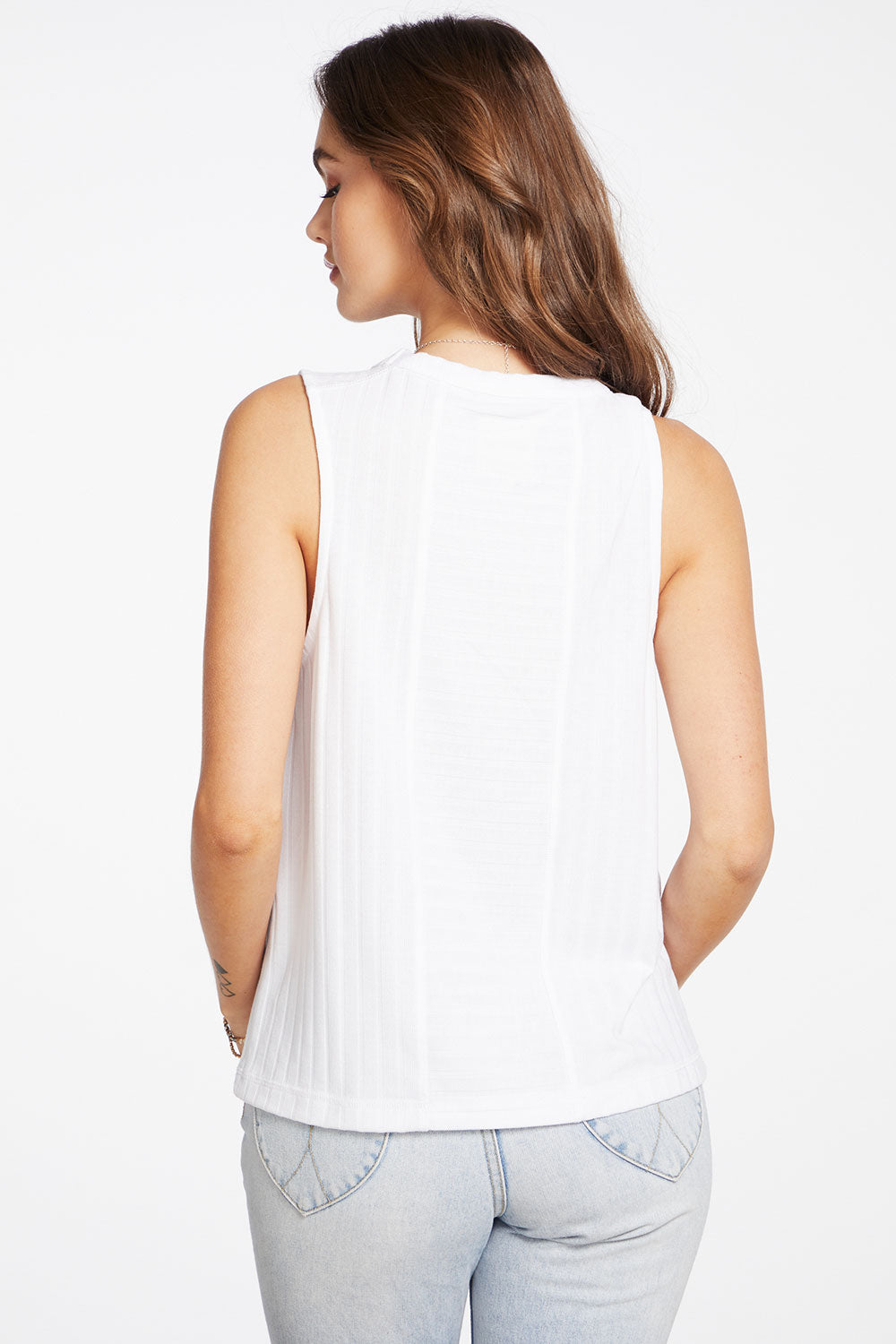Poor Boy Rib Sleeveless Pocket Tank with Yoke