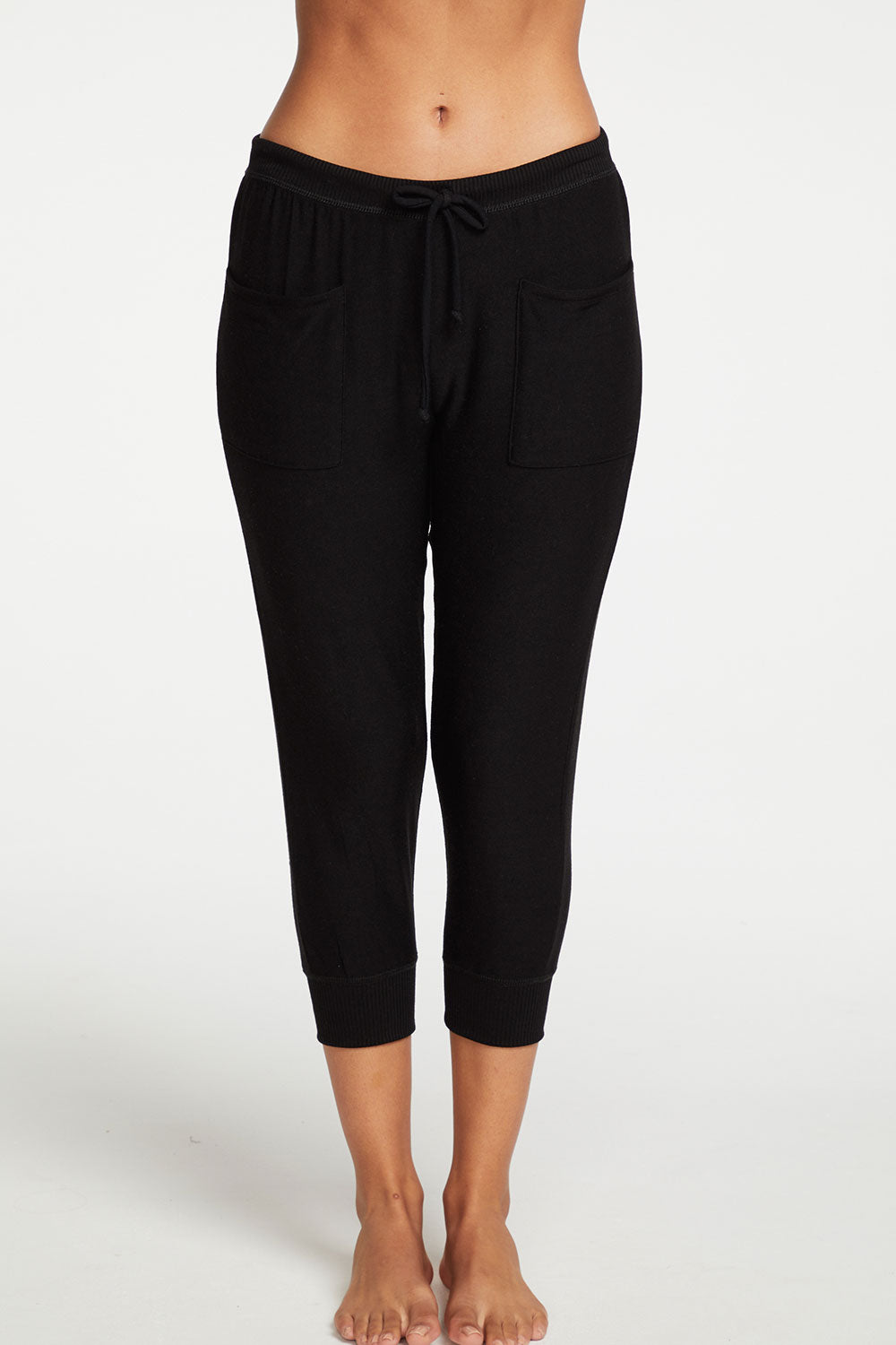 Cozy Knit Cropped Slouchy Jogger with Pockets