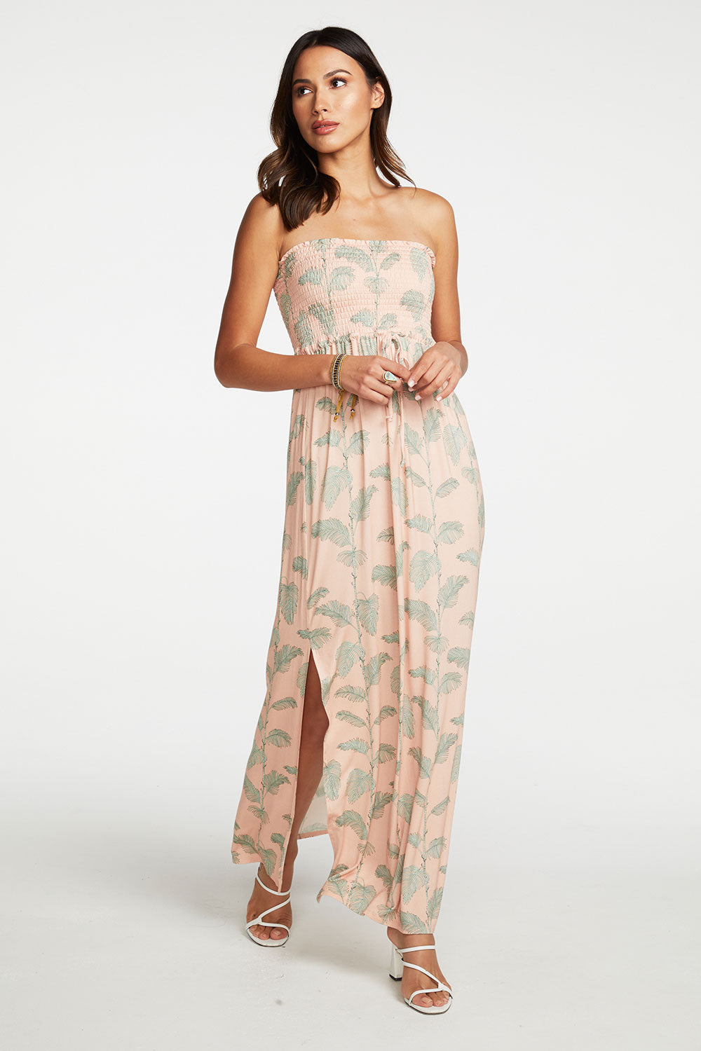 Cool Jersey Smocked Strapless Maxi Dress with Side Slits BCA chaserbrand4.myshopify.com