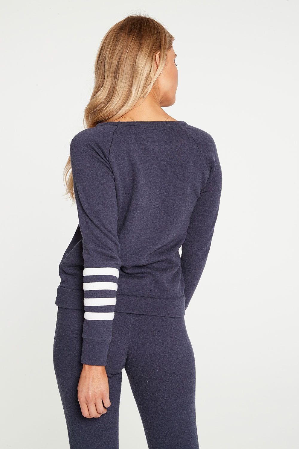 Cashmere Fleece Long Sleeve Raglan Pullover With Strappings WOMENS chaserbrand4.myshopify.com