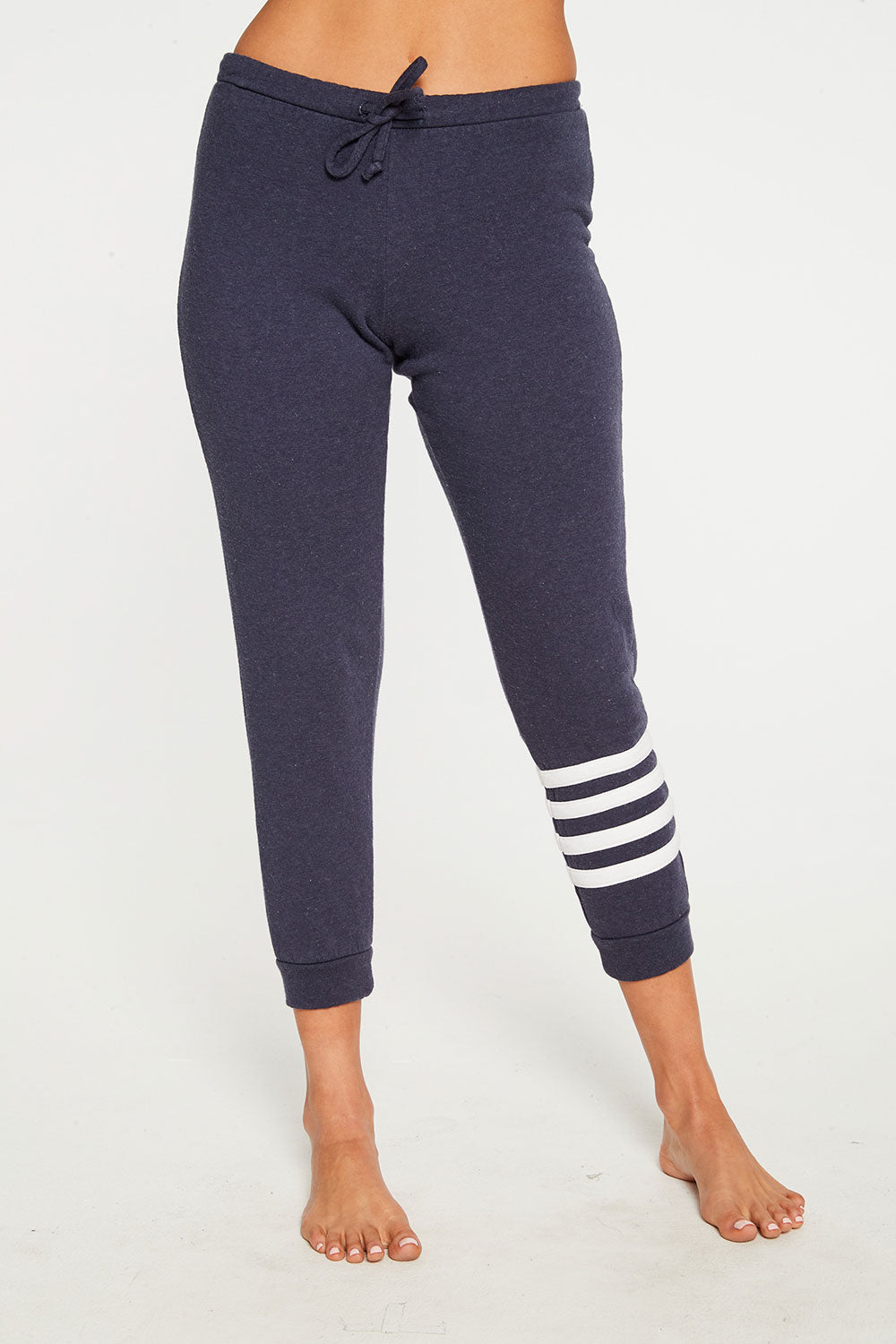 Cashmere Fleece Slouchy Jogger with Strappings
