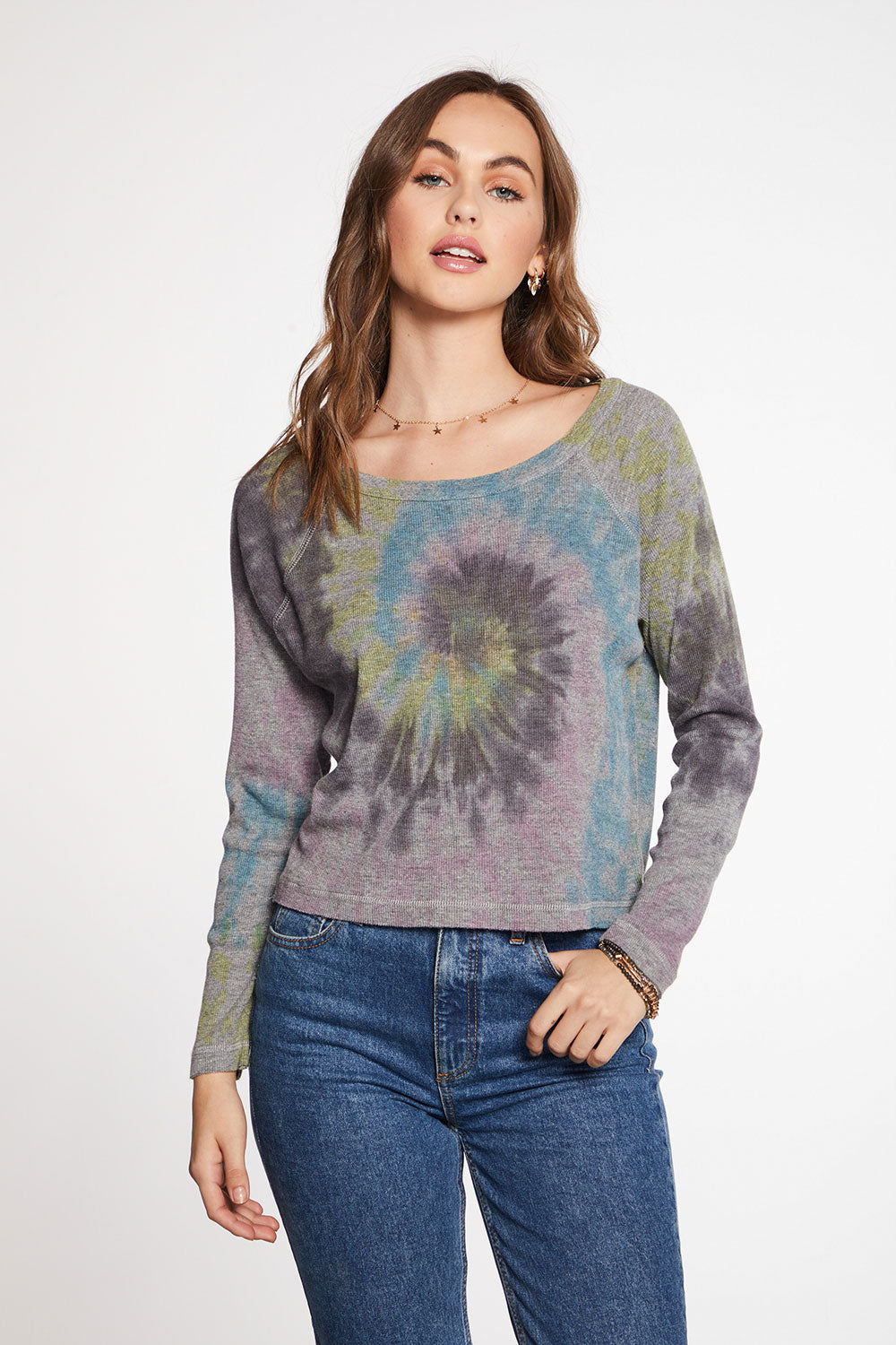 Triblend Rib Long Sleeve Open Neck Raglan Pullover WOMENS chaserbrand4.myshopify.com