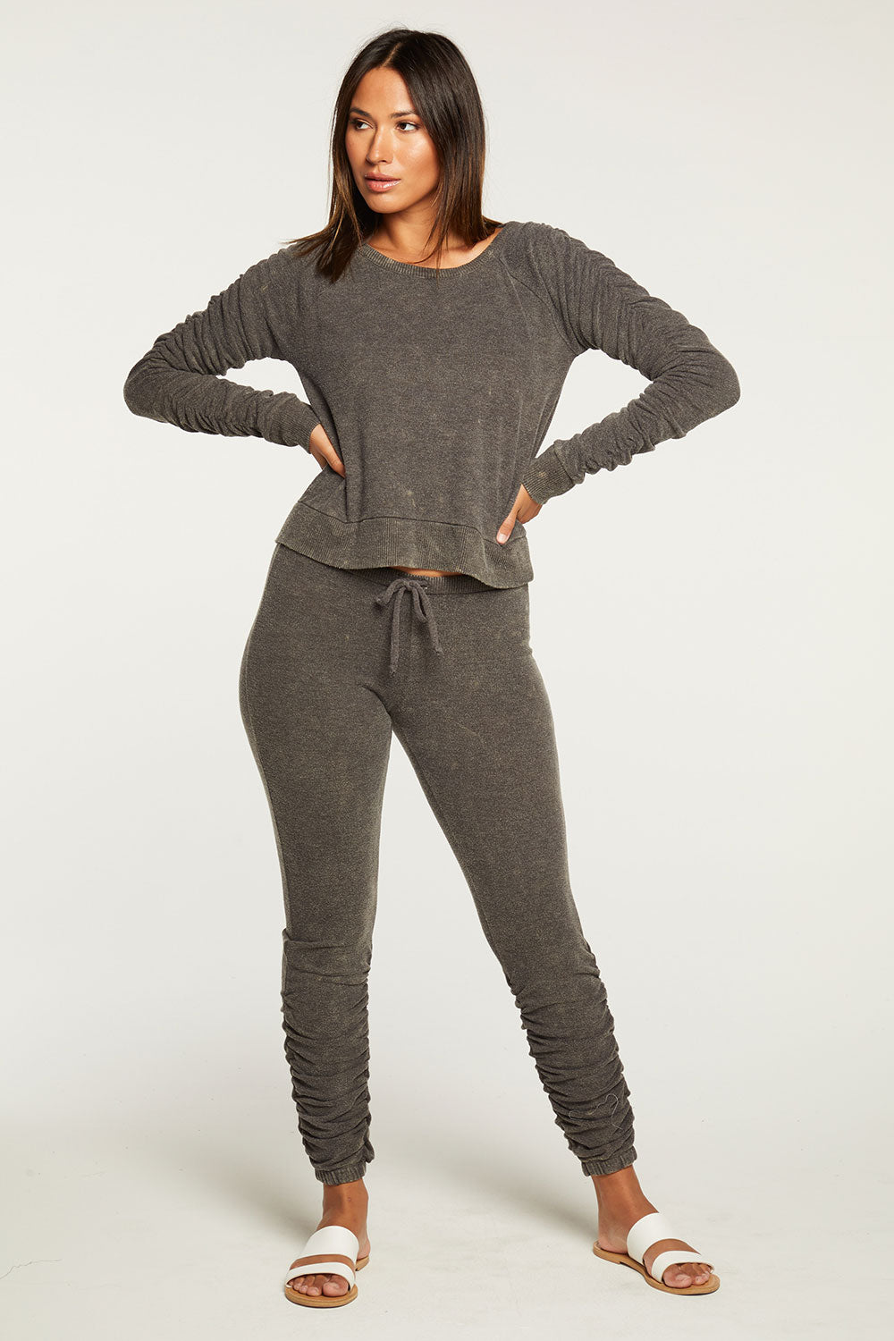 Bliss Knit Shirred Jogger WOMENS chaserbrand4.myshopify.com