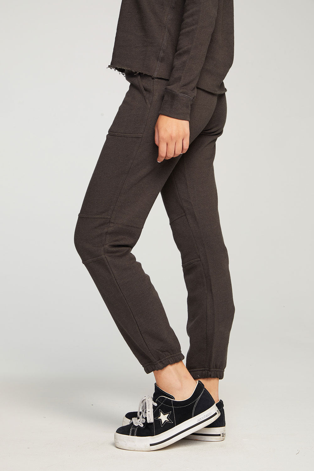 Linen French Terry Slouchy Moto Jogger WOMENS chaserbrand4.myshopify.com