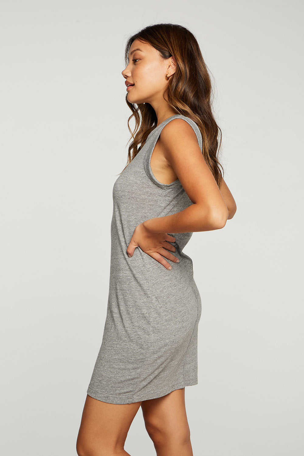 Triblend Jersey Rolled Armhole Tank Dress WOMENS - chaserbrand
