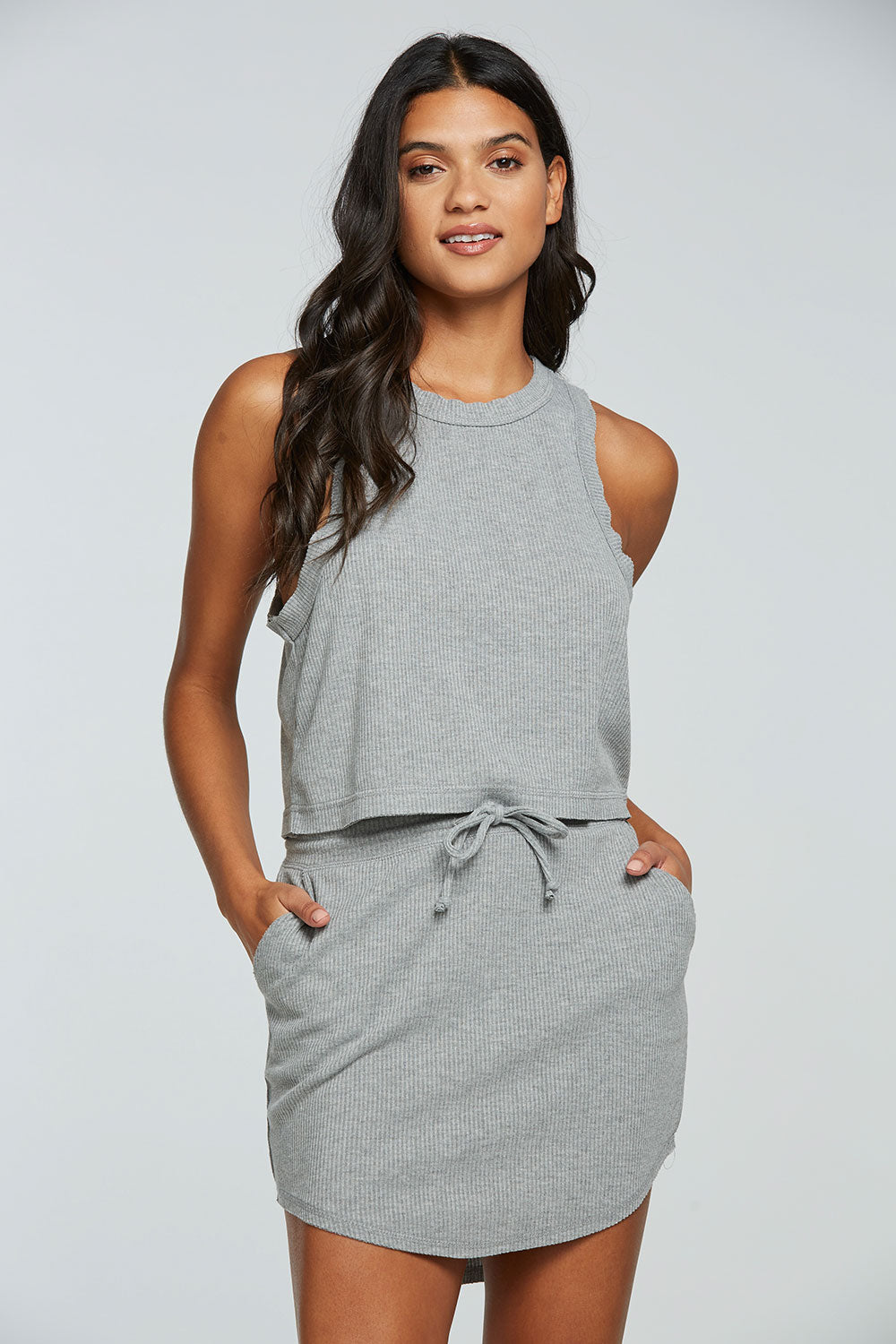 rPET Cozy Rib Cropped Dropped Armhole Muscle Tank