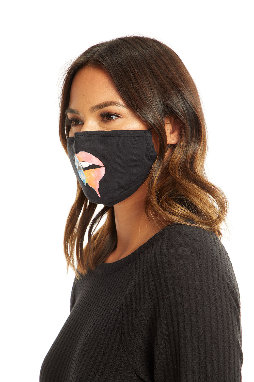 Rainbow Lips Mask