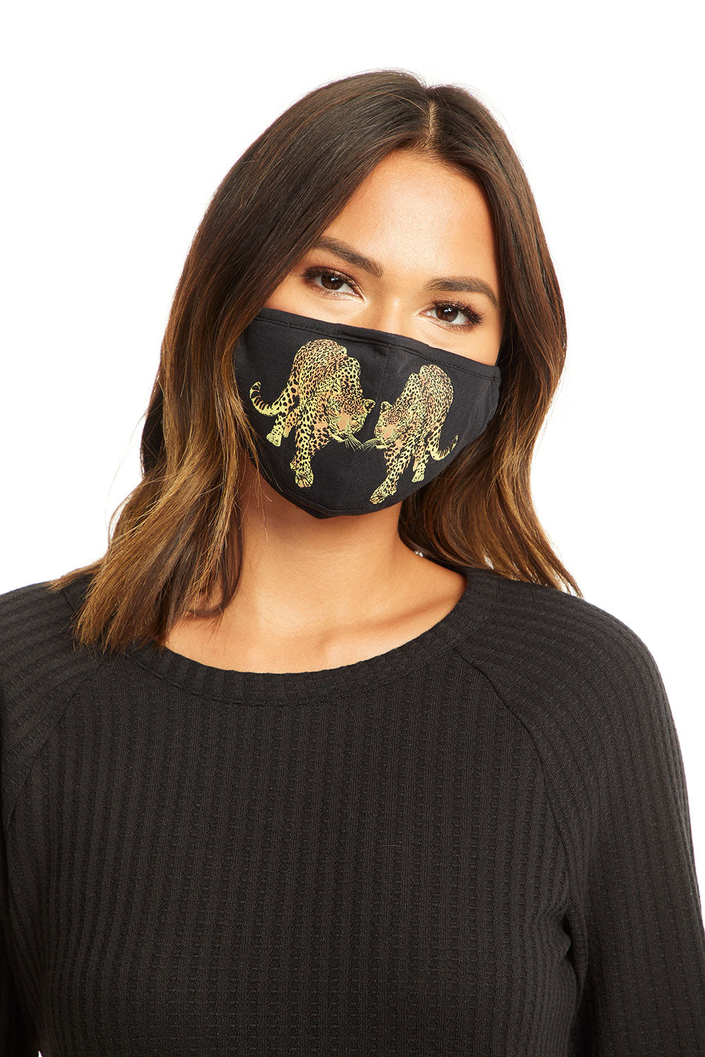 Reflected Leopards Mask MASKS - chaserbrand