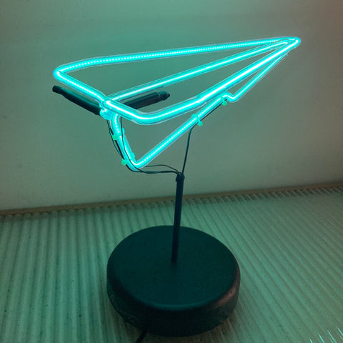 Neon Paper Plane - Blue (Local Pickup Only) C#