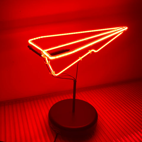 Neon Paper Plane - Red (Local Pickup Only) C#