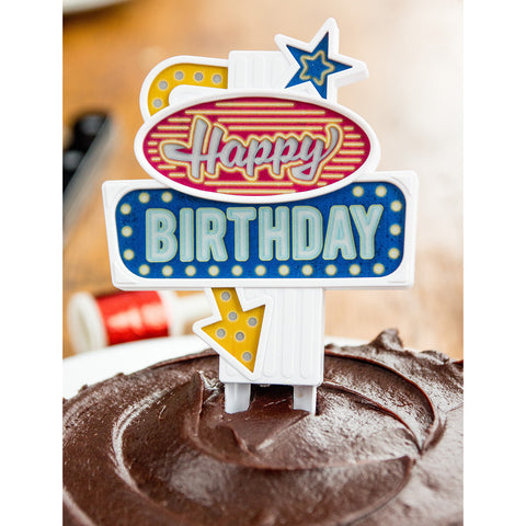 Birthday Flashing Cake Topper