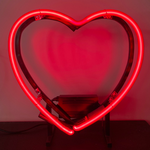 Neon Heart - Corning Ruby (Local Pickup Only) C#