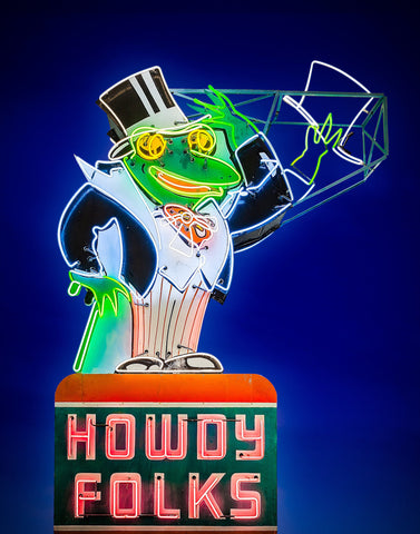 Hanging Panel - Howdy Folks Frog