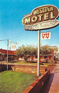 Note Card - Western Motel