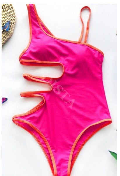 CUT OUT ONE PIECE: PINK