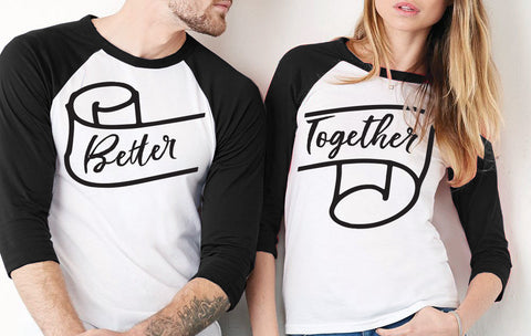 Better Together Couples Baseball Tee Set