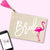 Bride Flamingo Makeup Bag - Pick Color