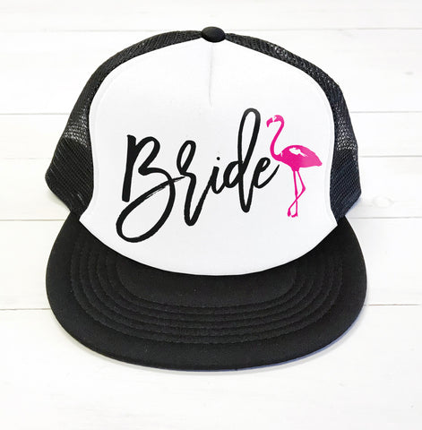 Bride Flamingo Trucker Hat