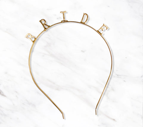 Bride Gold Bachelorette Party Headband