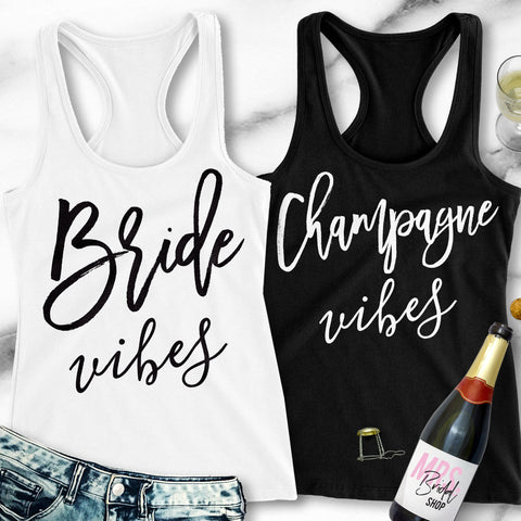 Bride Vibes Bachelorette Party Tank Top Racerbacks
