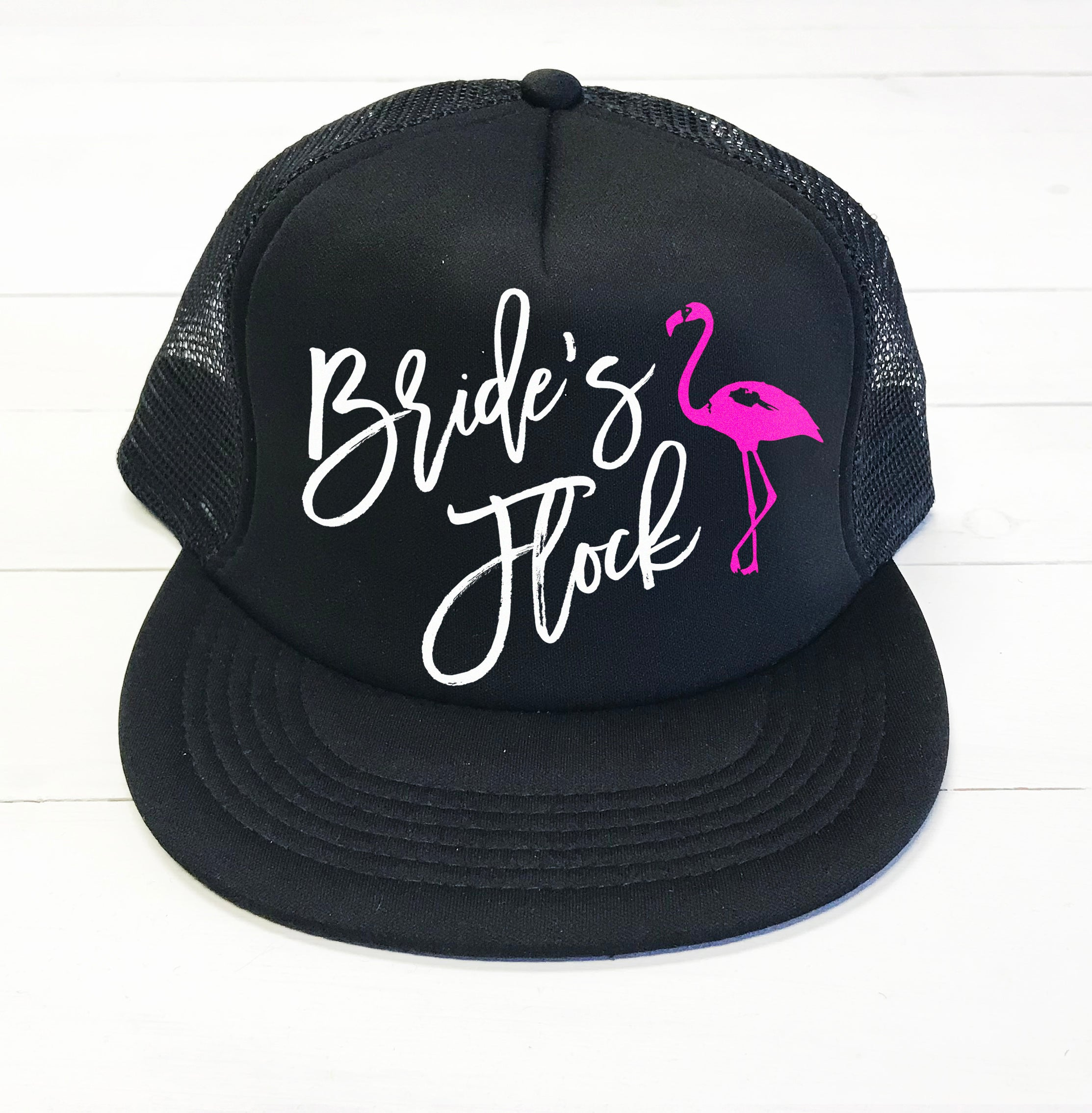 787ab602e18f3 Bride s Flock Flamingo Bridal Hat