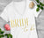 Bride to Be VOGUE V-Neck Shirt with Gold Foil Print