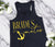 Bride's Mates VOGUE Tank Top with Gold Foil Print