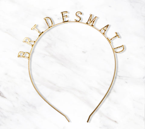 Bridesmaid Gold Bachelorette Party Headband