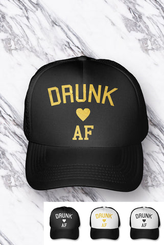 Drunk AF Bachelorette Party Hat - PICK COLOR